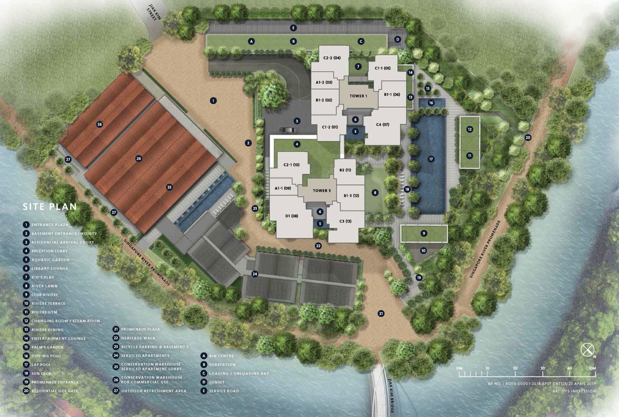rivere site plan