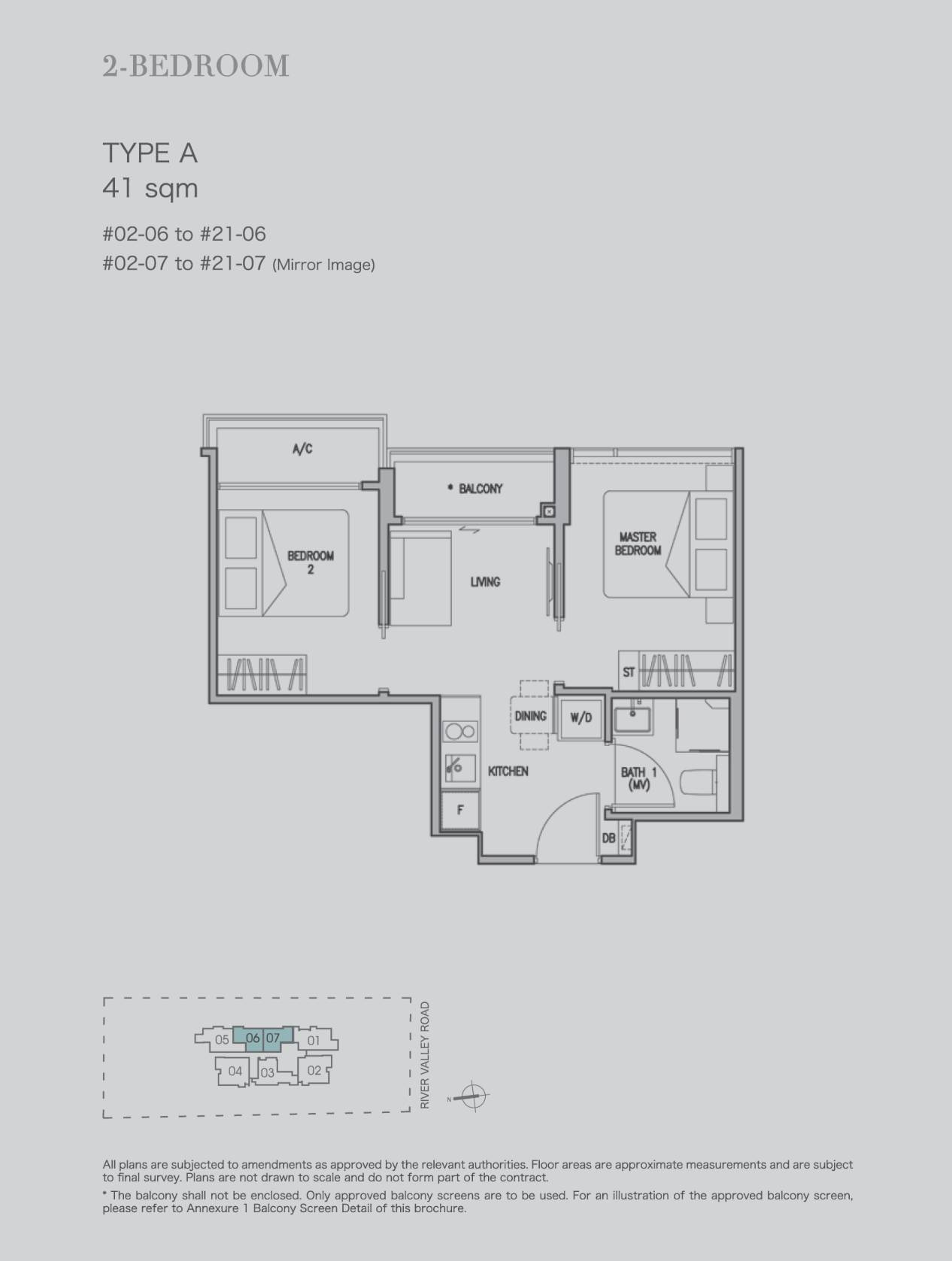 2 bedroom type A 41sqm stack 6 & 7