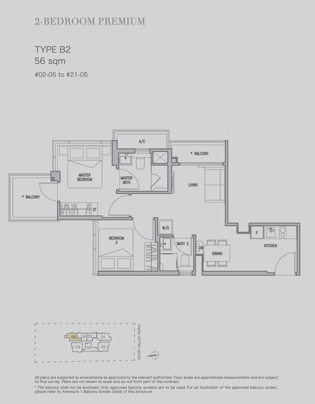 2 bedroom premium type b2 56sqm stack 5