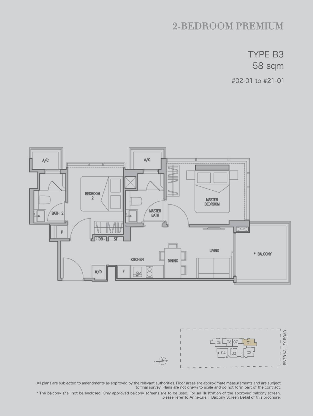 2 bedroom premium type b3 58sqm stack 1
